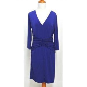 Ann Taylor Purple Ruched Dress Size 10 New